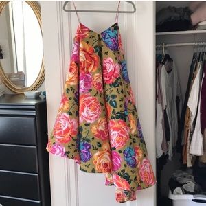 ASOS Floral Asymmetrical Dress
